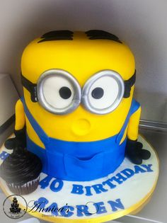 Minion Cake 3 D by Annica's