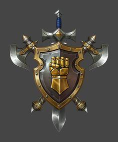 Game Design, Icon Design, Logo Design, Medieval Symbols, Knight Shield, Medieval Shields, Swords And Daggers, Armor Concept, Game Icon