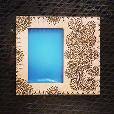 6x4 inch Wood Frame Henna Heena Mehndi with by NewWorldHenna, $32.00