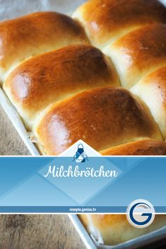 Not only popular with children: milk rolls. The fluffy, soft pastries decorate . Dog Recipes, Sweet Recipes, Baking Recipes, Sweet Bread Meat, Milk Roll, Nutritional Yeast Recipes, Eating For Weightloss, Dog Cakes, Food Cravings