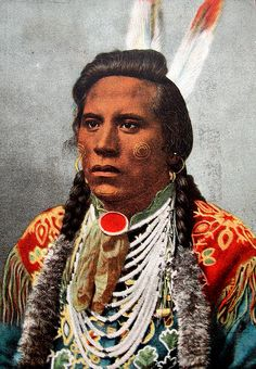 Shuh-shee-ahsh (Curley), vintage postcard image of the youngest of several Crow scouts attached to General George Armstrong Custer's 7th Cavalry at the Battle of the Little Bighorn in Montana on June 25, 1876. Not a combatant in the battle, he survived to tell the story of what happened, and died of pneumonia on the Crow reservation in 1923.