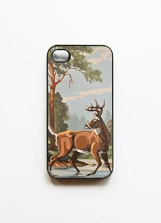 iPhone 4 Case Vintage Paint By Number Deer by onyourcasestore, $16.99