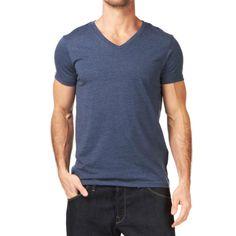 Men cotton blank v neck t shirt