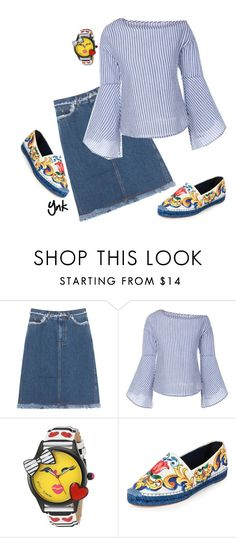 """""""Fashion girl"""" by ynk24 ❤ liked on Polyvore featuring Acne Studios, Betsey Johnson and Dolce&Gabbana"""