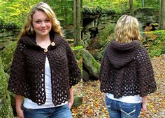 Made two - easy and quick, (paid Pattern) Ravelry: Wildwood Capelet pattern by Patricia Hodson