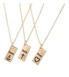 Lux Accessories Hope Faith Love Anchor Cross Heart Jesus Inspiration BFF Best Friends Forever Matching Necklaces ** Sincerely hope that you like the picture. (This is an affiliate link) Bff Necklaces, Best Friend Necklaces, Best Friend Jewelry, Matching Necklaces, Couple Necklaces, Evil Eye Jewelry, Evil Eye Necklace, Dainty Diamond Necklace, Sister Jewelry