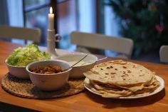 U nás na kopečku: ...domácí tortilly... Bread Recipes, Pancakes, Bakery, Homemade, Cooking, Breakfast, Food Ideas, Blog, Pancake