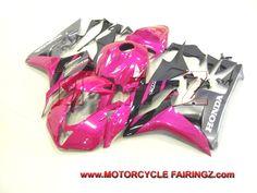 2007 2008 HONDA CBR 600RR Fribest Fairing Pink Grey Race FFKHD009