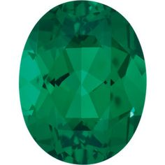 5x3mm Oval Faceted Chatham Created Emerald