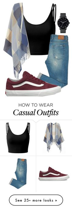 """Casual."" by annayalee-gerber on Polyvore featuring Doublju, Dorothy Perkins, The Horse and Vans"