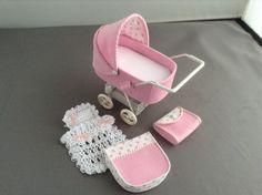 1/12th scale modern dolls house pram/stroller/buggy by thimblemins