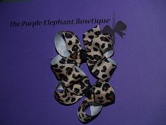 Baby Toddler Cheetah Piggies Girls Hair Bows by PurpleElephant84, $4.95 The Purple Elephant Bowtique on Etsy