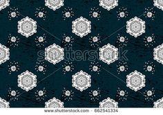 Seamless raster background. Graphic modern seamless pattern on blue background. Seamless floral pattern. Wallpaper baroque, damask.