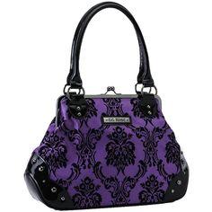 Rock Rebel Mistress Violet Purple GG Rose Victorian Damask Retro... ($60) ❤…
