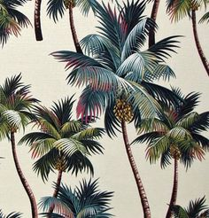 Out of Stock Available in May Palm Tree by HawaiianFabricNBYond