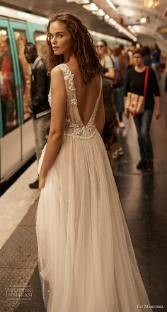 2020 bridal sleeveless thick strap deep v neck heavily embellished bodice romantic soft a line wedding dress backless low v back short train bv -- Liz Martinez 2020 Wedding Dresses Ethereal Wedding Dress, Wedding Dresses With Straps, Classic Wedding Dress, Cheap Wedding Dress, Bridal Dresses, Wedding Gowns, Reception Dresses, Lace Wedding, Beautiful Dresses