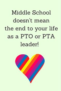 How to create a role for your PTO and your volunteers when you move up to middle school.
