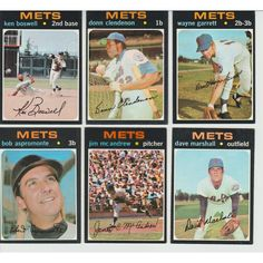 1971 VINTAGE Topps METS Team 6 cards lot Clendenon Garrett Boswell w/O-Pee-Chee Listing in the 1970-1979,Sets,MLB,Baseball,Sports Cards,Sport Memorabilia & Cards Category on eBid United States | 147698022