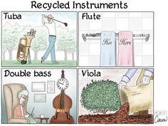 For environmentally conscious music lovers. Sorry violists... we really do love you!
