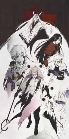 Kaguya, Hashirama, Tobirama, Obito, Sasuke, Naruto, Madara and Sage of six Paths