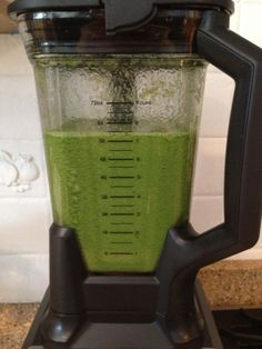 Green Goblin Recipe  Ingredients  1 cup kale, chopped  1 green apple, peeled (I left the peel on), cut in half  1/2 cucumber, peeled, cut in half  1/2 cup seedless grapes  1 lime, peeled, quartered  1/2 cup water  1 cup ice cubes  Blend it together in your Ninja Blender (You can also use another heavy duty blender) and enjoy!