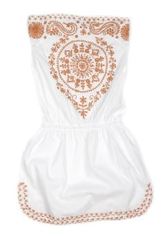 White Bandeau Dress Toya
