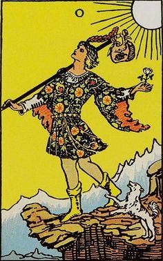 0. The Fool - Rider-Waite Tarot by A. E. Waite, Pamela Colman-Smith