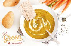 #GoGreenChristmas : Un repas de Noël vegan et sans gluten avec en entrée un velouté de lentilles vertes au cumin !