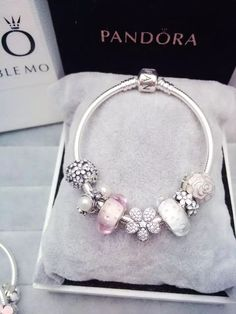 awesome 50% OFF!!! $199 Pandora Charm Bracelet White Pink. Hot Sale!!! SKU: CB01583 - PA...