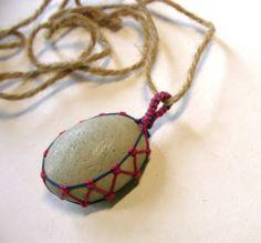stone pendant macrame wrap turorial #Macrame