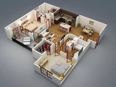 Small one bedroom house plans large size of layout design one bedroom apartment house plans house . small one bedroom house plans 3d House Plans, Modern House Plans, Small House Plans, Two Bedroom Apartments, 1 Bedroom Apartment, Studio Apartments, Loft Bedrooms, Home Design Plans, Plan Design