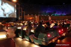 Sci-Fi Dine-In Theater at Hollywood Studios, I hear the food is ok but you are really going for the atmosphere