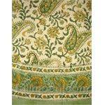 Rajasthan Paisley Hand Block Print Tablecloth-72 Inch Round-Cotton