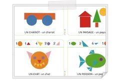 Iticus Petite Section, Puzzles, Montessori, Geometry, Free Printables, Alphabet, Kindergarten, Classroom, Shapes