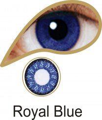 MesmerEyez Illusionz 1 Month Royal Blue Contact Lenses