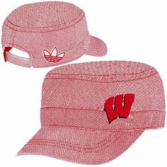 adidas Wisconsin Badgers Ladies Engineer Military Adjustable Hat - Cardinal/White