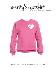 Kappa Kappa Gamma Crew Sweatshirt with heart to heart design. Your sorority heart over your very own heart... what could be sweeter? $29.98