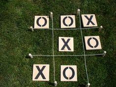Giant Tic Tac Toe - great for backyard, cottage, beach, picnic, family reunion, wedding, kids by BackyardGamesCo on Etsy https://www.etsy.com/listing/237842175/giant-tic-tac-toe-great-for-backyard
