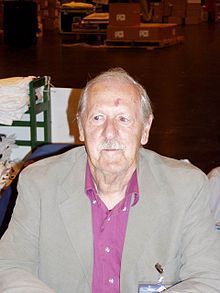 Brian Wilson Aldiss, OBE-- ( born 1925) is an English writer and anthologies editor, best known for science fiction novels and short stories. His byline reads either Brian W. Aldiss or simply Brian Aldiss, except for occasional pseudonyms during the mid-1960s. Greatly influenced by science fiction pioneer H. G. Wells, Aldiss is a vice-president of the international H. G. Wells Society. He is also (with the late Harry Harrison) co-president of the Birmingham Science Fiction Group