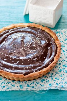 Salted Caramel and Chocolate Tart - I am currently having a secret love of this combination.  Yummy!