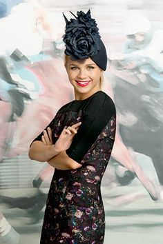Emma Freedman in Scanlan & Theodore dress and Nerida Winter headpiece.