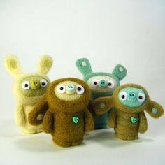 These are bobbaloos.  Or, in my head, textile versions of the little monsters in Toy Story.