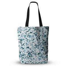 """Angelo Cerantola """"Waterflowers"""" Blue Digital Everything Tote Bag"""