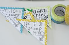 A super simple washi tape craft to make adorable bookmarks. Say good-bye to dog-eared pages.