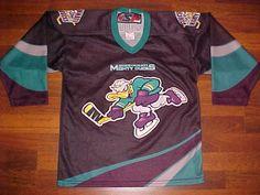 SP Canada AHL Cincinnati Mighty Ducks BOY Purple Teal Hockey Jersey L/XL Free #SP #CincinnatiMightyDucks