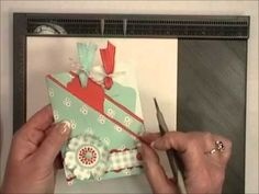 Excellent Double pocket video by Patty Bennett using the new Diagonal Scoring Plate for the Stampin' Up Simply Scored Tool.