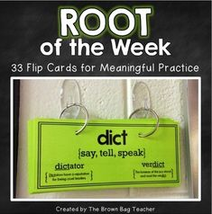Building vocabulary has been a huge challenge this year, and I wanted a way to quickly and simply introduce my students to Greek and Latin roots. I created this Root of the Week resource to turn hallway transitions into meaningful moments for learning, as well as, quickly focus students as they enter the classroom. Each day, students lead/participate in a simple activity - record it, list it, picture it, chant it, and teach it.