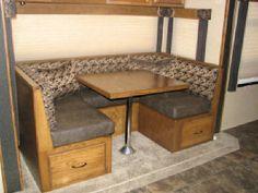 Diy Rv Booth Dinette Plans Motor Home Build A Camper