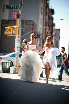New York City  When we were there in 2011, we saw wedding couples getting pictures made in the streets!