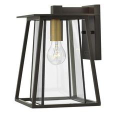 Bold Bronze and Brass Outdoor Sconce- Small